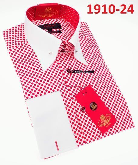Men's Fashion Shirt by AXXESS - Red Dots