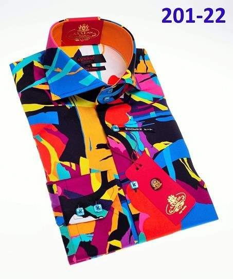 Men's Fashion Shirt by AXXESS - Abstract Multi