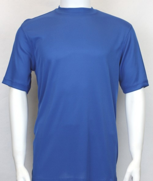 Bassiri S/S Mens Knit Microfiber T-Shirt - Royal