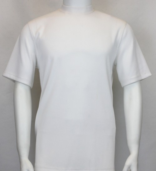 Bassiri S/S Mens Knit Microfiber T-Shirt - White