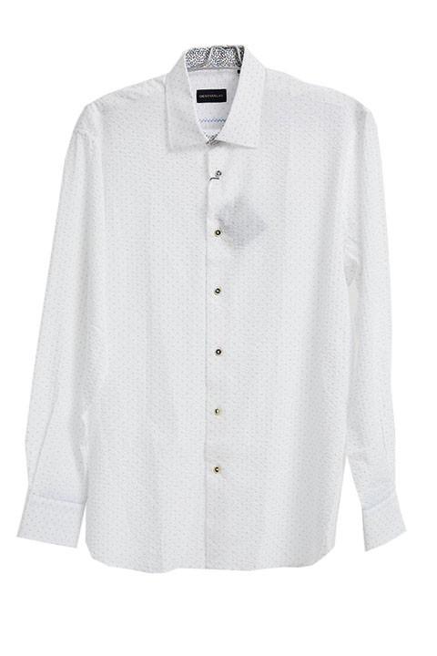 Men's Fashion Shirt by Gem Malki - Texture White a