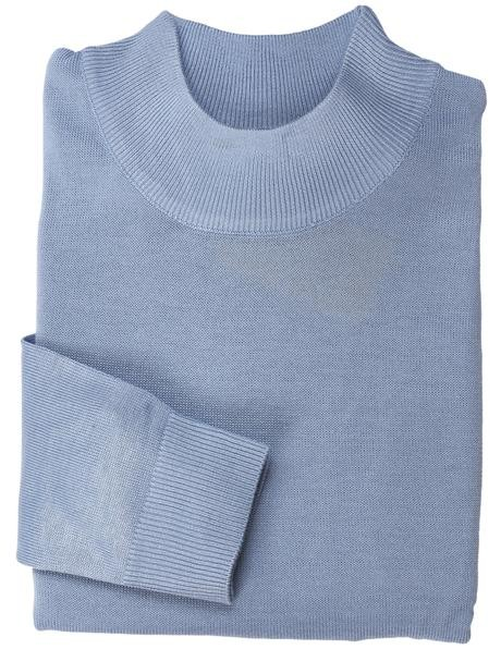 Men's L/S Knit by Inserch / Merc - Mock Neck / Sky Blue