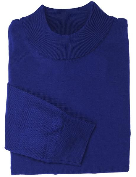 Men's L/S Knit by Inserch / Merc - Mock Neck / Royal Blue
