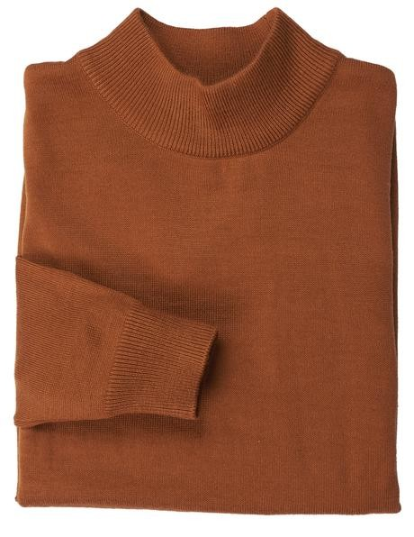 Men's L/S Knit by Inserch / Merc - Mock Neck / Rust
