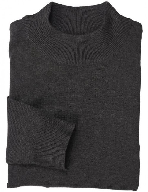 Men's L/S Knit by Inserch / Merc - Mock Neck / Charcoal
