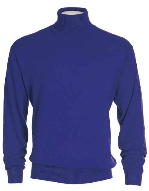 Men's L/S Knit by Inserch / Merc - Turtleneck / Royal Blue