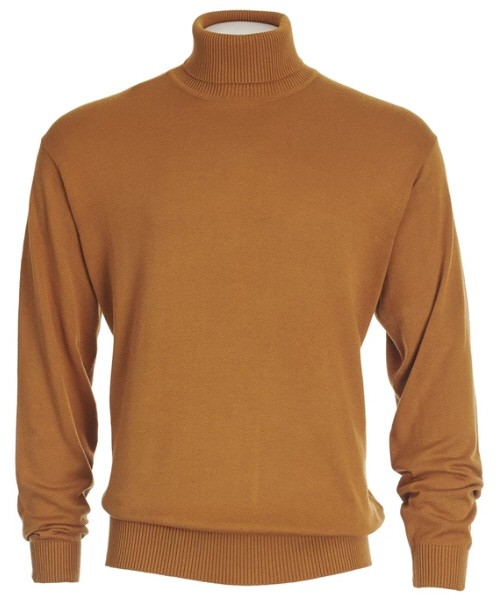 Men's L/S Knit by Inserch / Merc - Turtleneck / Rust
