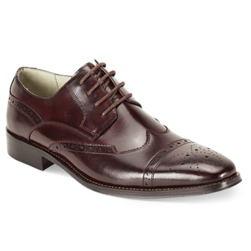 Brogue Lace-Up Men's Shoe by Giovanni - Burgundy
