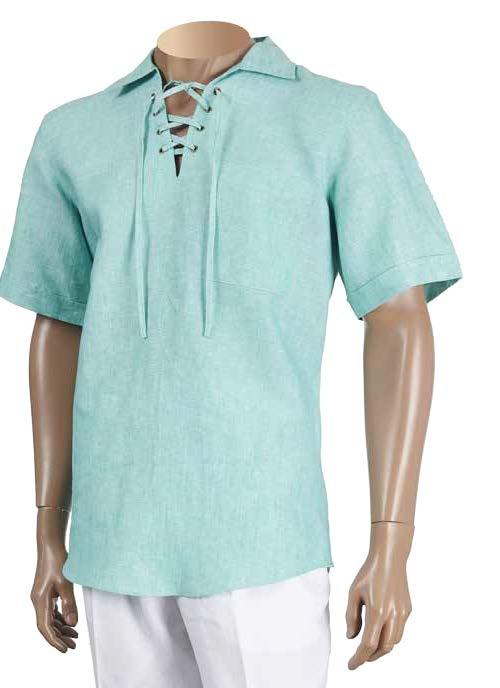 Men's 100% Linen S/S Shirt by Inserch / Merc - Jade
