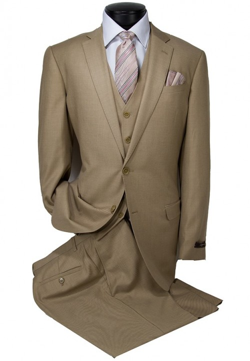Vitarelli Mens Suit Tan