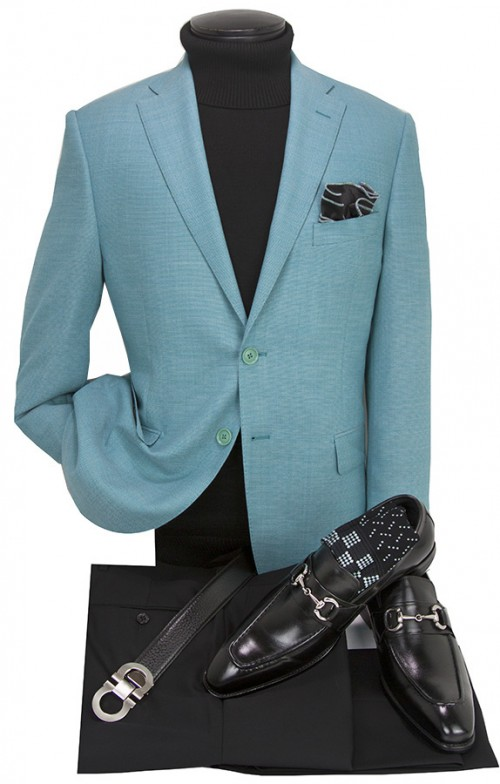 Men's Blazer by Tiglio Luxe - Firenze Lt Teal a