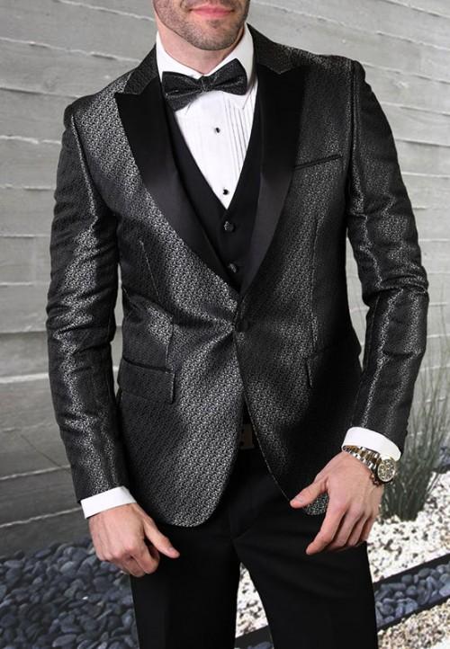 Men's Tux - Slim Fit - Bellagio-20 Black