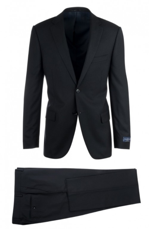 Canaletto Slim Fit Suit by Tiglio - Como Black