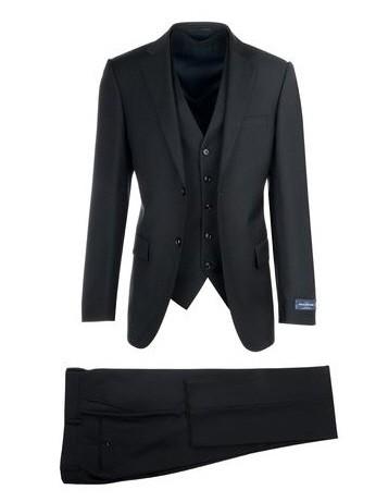Canaletto Slim Fit 3 Pc Suit by Tiglio - Como SV Black