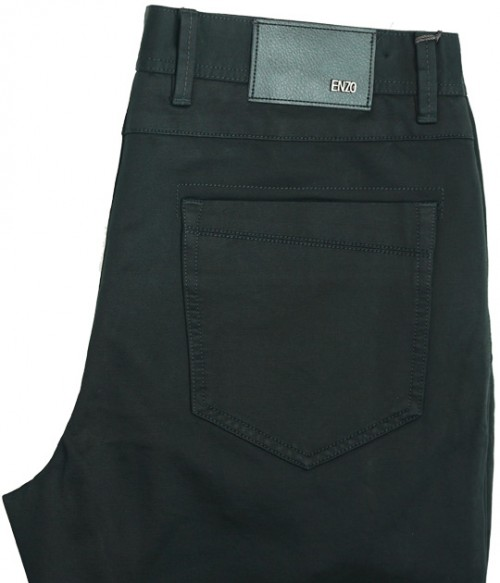 Enzo Denim Collection Mens Jeans - Conners-23 Solid Black