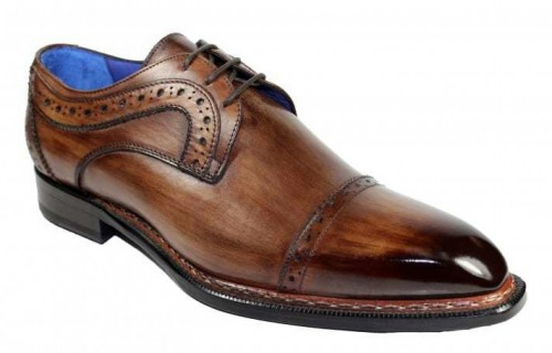 Men's Shoes by Emilio Franco - Dino Chocolate