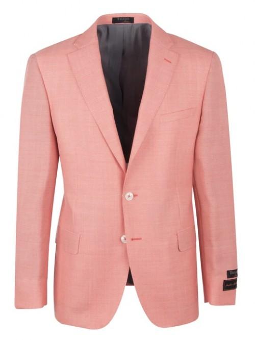 Tiglio Modern Fit Men's Blazer - Dolcetto Salmon