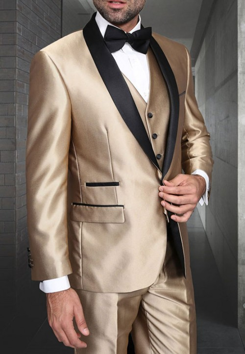 Men's Tux - Tailored Fit - Enzo-7 Champagne a