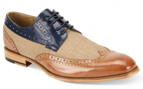 Hunter Men's Shoe by Giovanni - Tan Navy