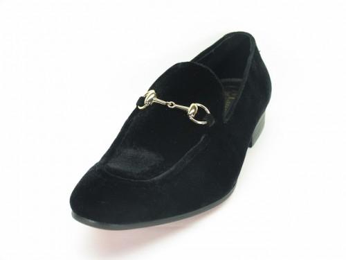 Carrucci Black Velvet Slip On, ks308-101V