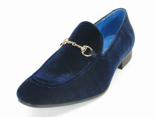 Carrucci Blue Velvet Slip On, KS308-101V Blue
