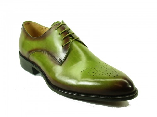 Men's Fashion Shoes by Carrucci - Lace-Up Olive