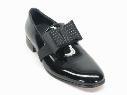 Men's Fashion Shoes by Carrucci - Black Patent Bow