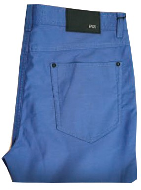 Enzo Denim Collection Mens Jeans - Marco-2 - Blue Textured