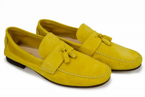 Giovanni Marquez Men's Shoes - Moccasin Loafer with Tassel - Yellow