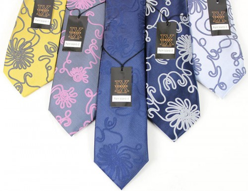 Men's Silk Tie and Pocket Square Set by Verse 9 -PALM ISLAND 1-5