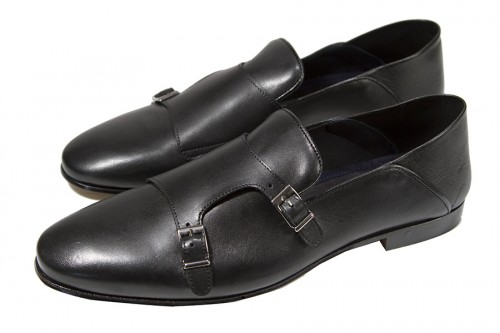 Giovanni Marquez Men's Shoes - Double Buckle / Black a
