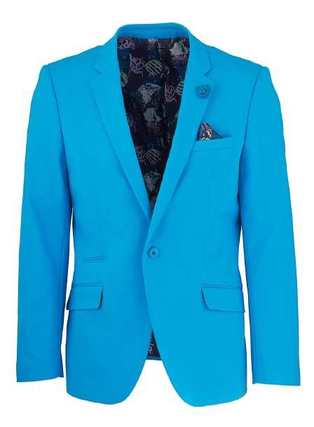 Men's Sateen Blazer by Suslo Couture - Turquoise