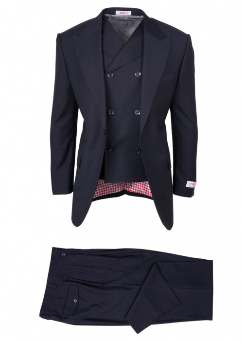 San Giovesse Full Cut Men's Suit  by Tiglio Rosso - Navy