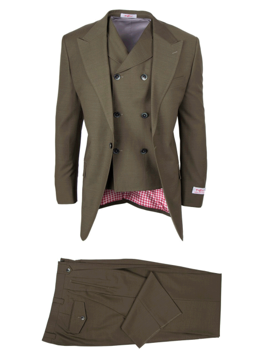 San Giovesse Full Cut Men's Suit  by Tiglio Rosso - Olive