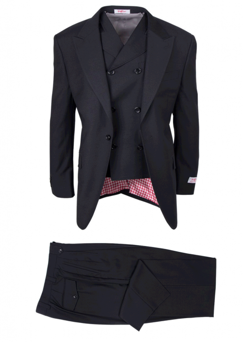 San Giovesse Full Cut Men's Suit  by Tiglio Rosso - Black