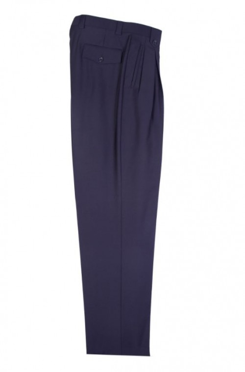 Men's Wide Leg Pleated Pants by Tiglio-TIG1002 Navy
