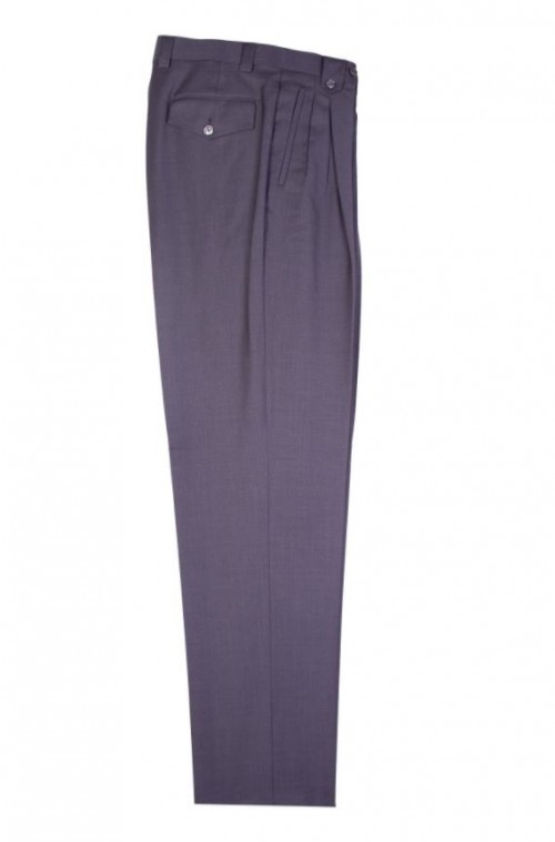 Men's Wide Leg Pleated Pants by Tiglio - 2576 Grey