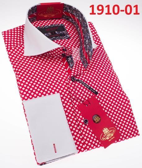 Men's Fashion Shirt by AXXESS - Red / Dot
