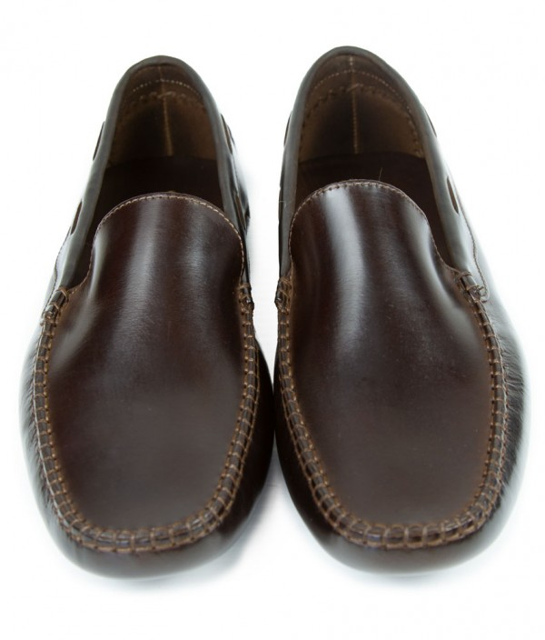 Giovanni Marquez Men's Shoes - Italian Loafer Driver Style - Brown