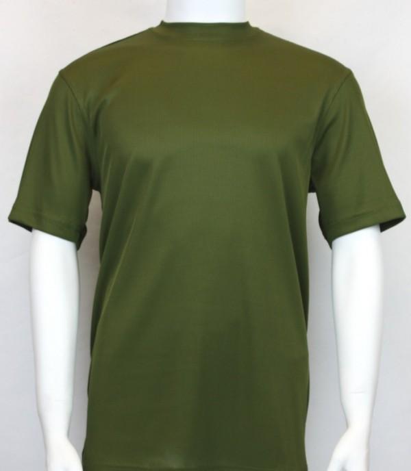Bassiri S/S Mens Knit Microfiber T-Shirt - Olive