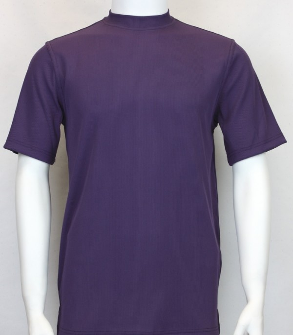 Bassiri S/S Mens Knit Microfiber T-Shirt - Purple