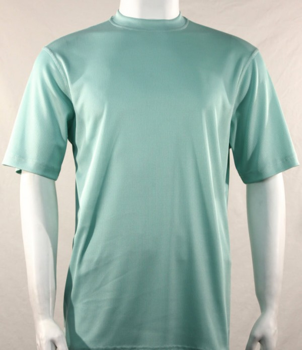 Bassiri S/S Mens Knit Microfiber T-Shirt Sea Green