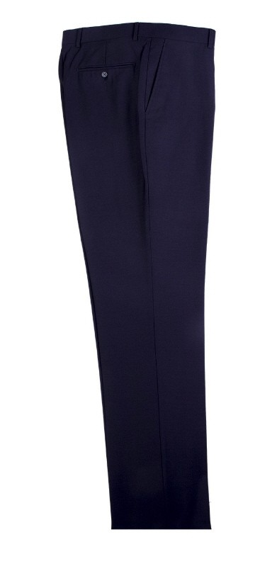 Men's Flat-Front Pants by Tiglio - Navy