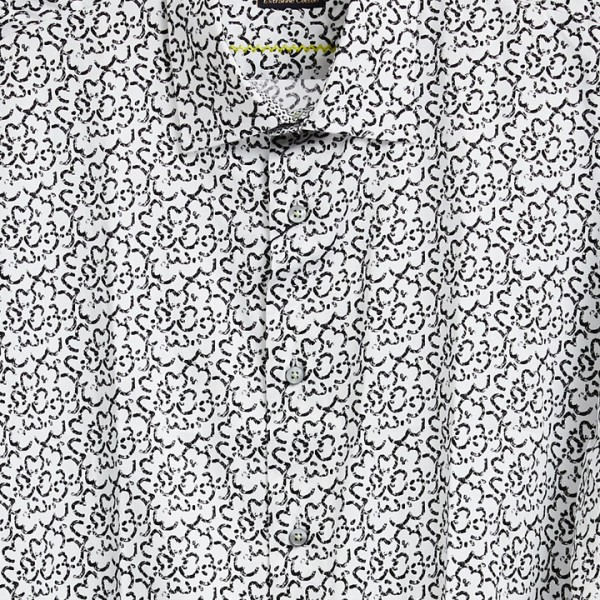 Men's Fashion Shirt by Gem Malki - Flowers / BW b