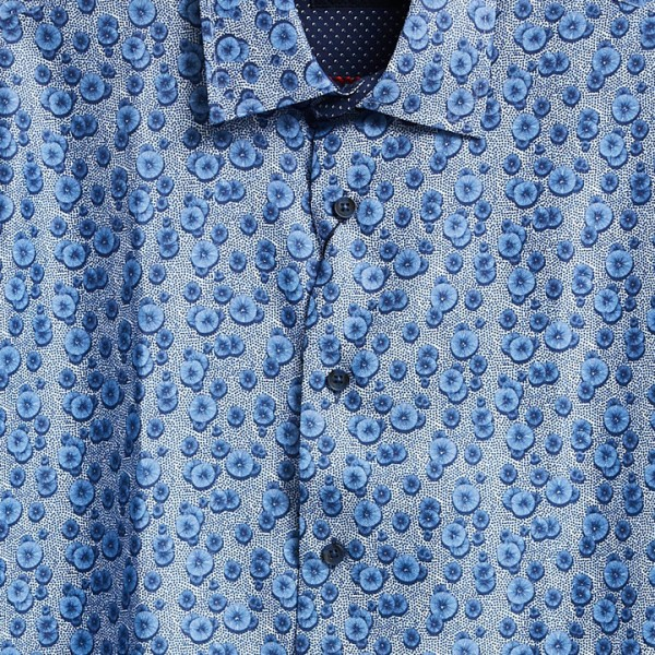 Men's Fashion Shirt by Gem Malki - Pattern / Blue b