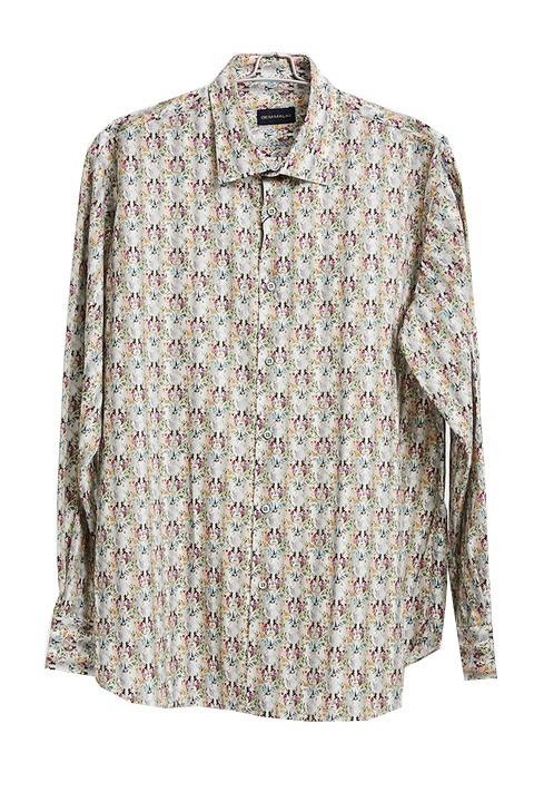 Men's Fashion Shirt by Gem Malki tan printb