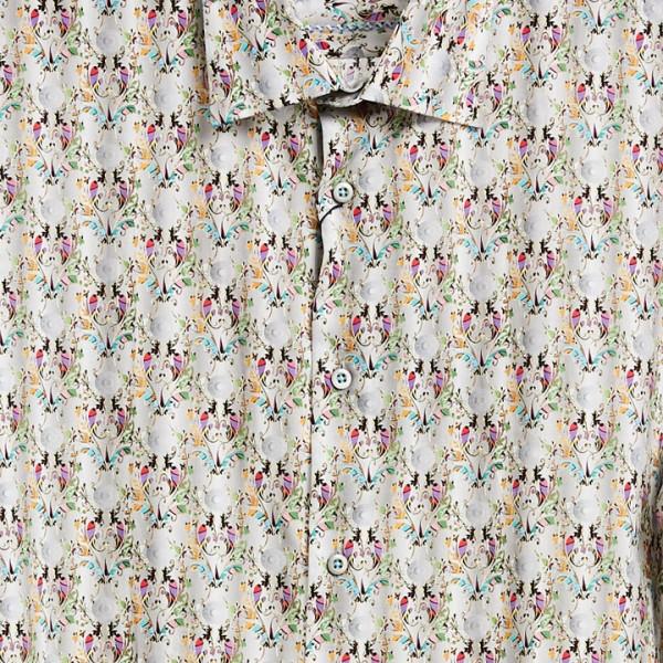 Men's Fashion Shirt by Gem Malki tan print a