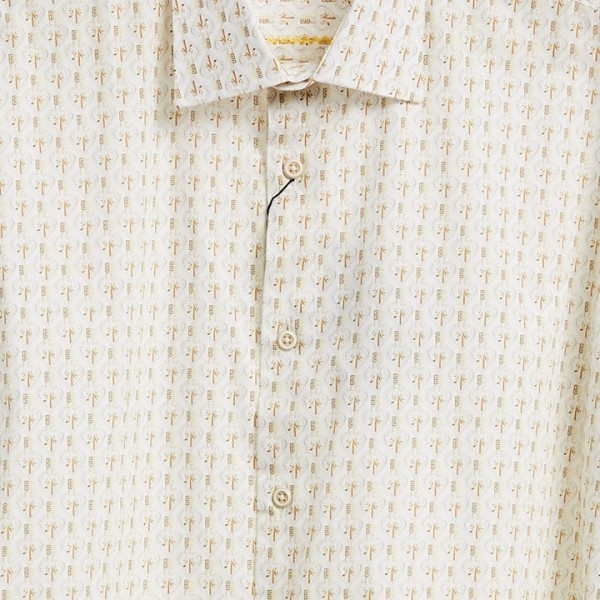 Men's Fashion Shirt by Gem Malki - Mini Pattern - Off White b