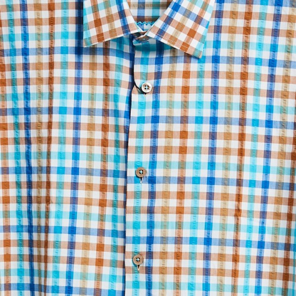 Men's Fashion Shirt by Gem Malki - Multi Plaid b