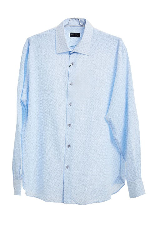Men's Fashion Shirt by Gem Malki - Texture Lt Blue a
